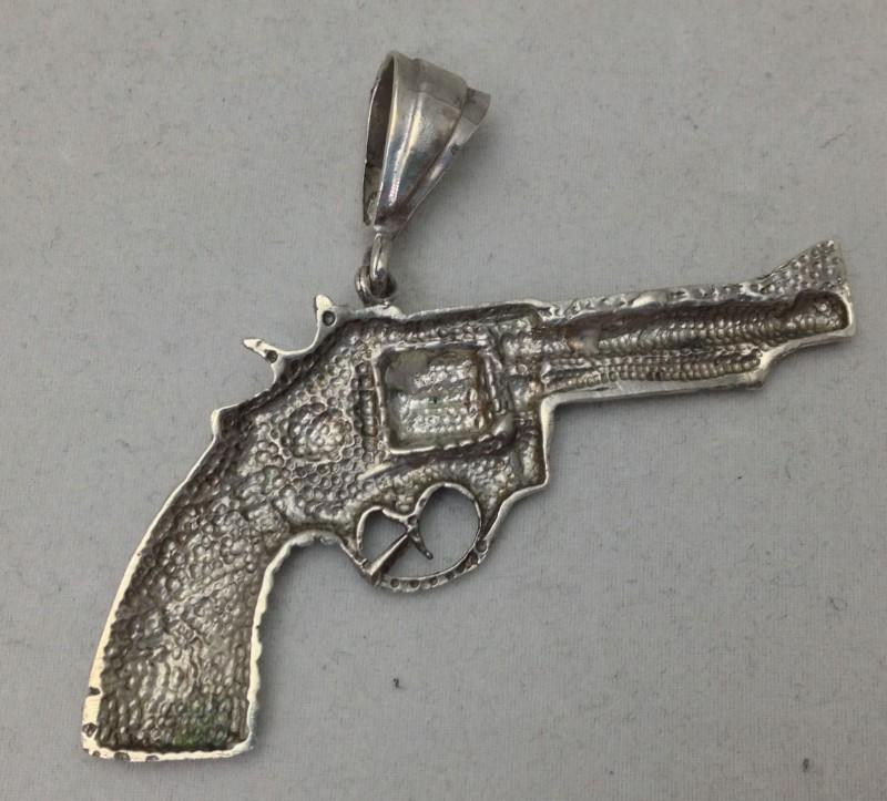 Sterling Silver Revolver Pendant