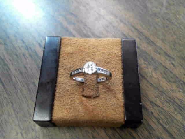 Lady's Diamond Engagement Ring 16 Diamonds .80 Carat T.W. 14K White Gold 2.3dwt