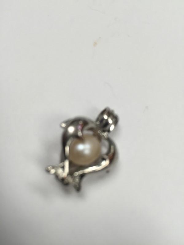 Pearl Silver-Stone Pendant 925 Silver 2.3g