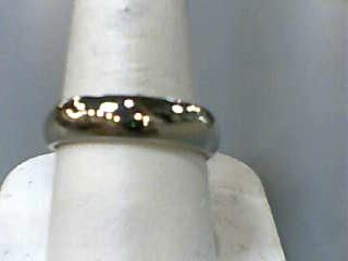 Gent's Gold Wedding Band 14K White Gold 4.3dwt Size:8