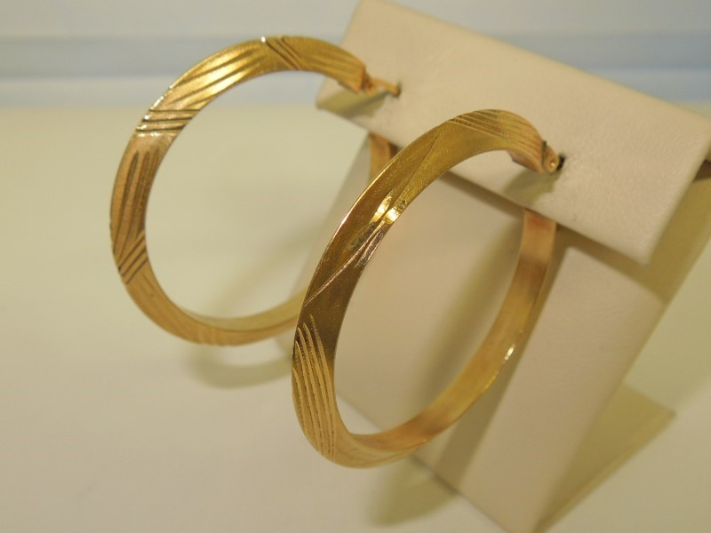 Gold Earrings 14K Yellow Gold 5.6g