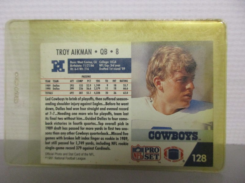 1991 NFL PRO SET TROY AIKMAN #128