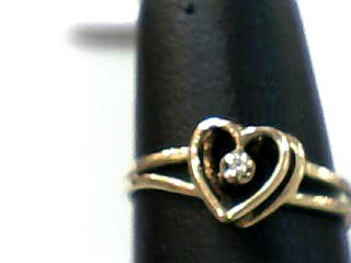 Lady's Gold Ring 10K Yellow Gold 0.6dwt Size:6.5