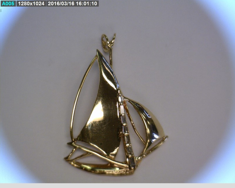 Gold-Multi-Diamond Pendant 7 Diamonds .21 Carat T.W. 14K Yellow Gold 3.82dwt