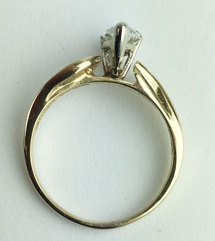 Lady's Diamond Engagement Ring 13 Diamonds 1.00 Carat T.W. 14K Yellow Gold