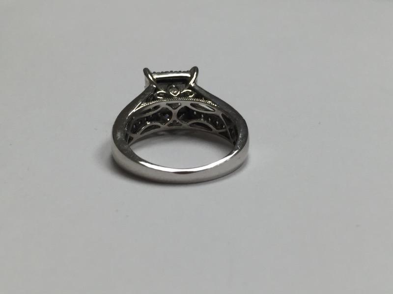 Lady's Diamond Engagement Ring 54 Diamonds 1.06 Carat T.W. 14K White Gold