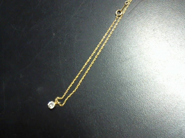Diamond Necklace .25 CT. 10K Yellow Gold 1.5g