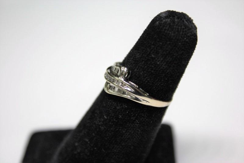 Lady's Diamond Fashion Ring 19 Diamonds .19 Carat T.W. 10K White Gold 2.2g