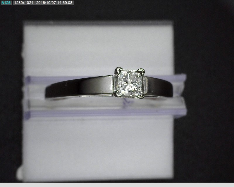 Lady's Diamond Solitaire Ring .33 CT. 14K White Gold 2.9g Size:8