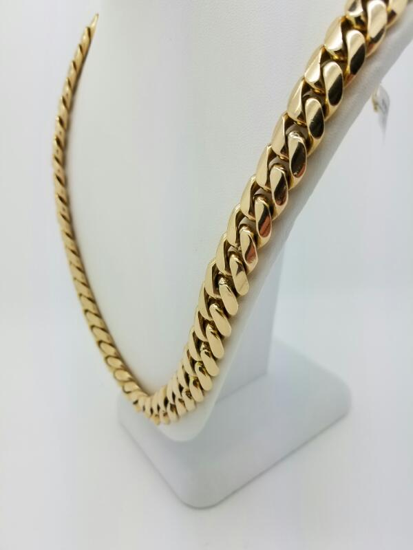 """24"""" C LINK Gold Curb Chain 14K Yellow Gold 177.7dwt"""