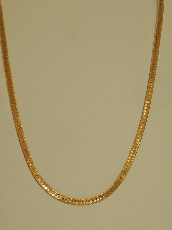 Gold Herringbone Chain 18K Yellow Gold 7.2g
