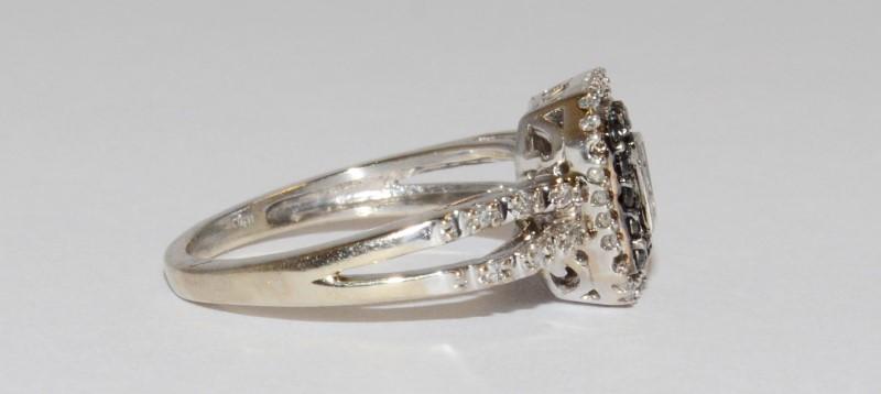 Lady's Diamond Fashion Ring 56 Diamonds .56 Carat T.W. 10K White Gold 2.7g