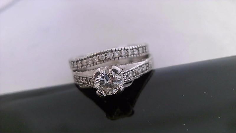 Lady's Diamond Wedding Set 24 Diamonds .63 Carat T.W. 14K White Gold 6.7g