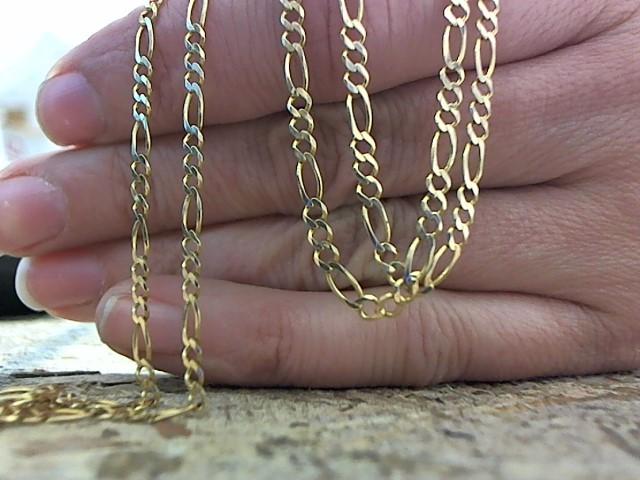 Gold Figaro Chain 14K Yellow Gold 4.6g