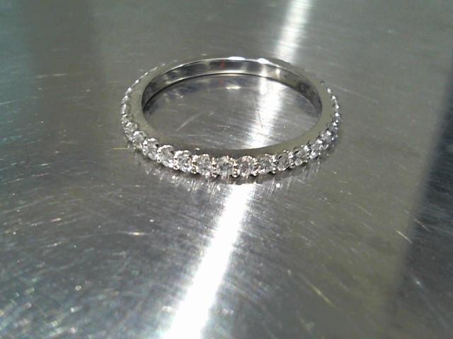 Lady's Gold-Diamond Anniversary Ring 33 Diamonds .33 Carat T.W. 14K White Gold