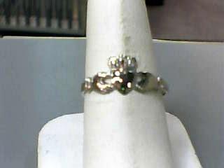 Lady's Gold Ring 14K White Gold 1dwt Size:8