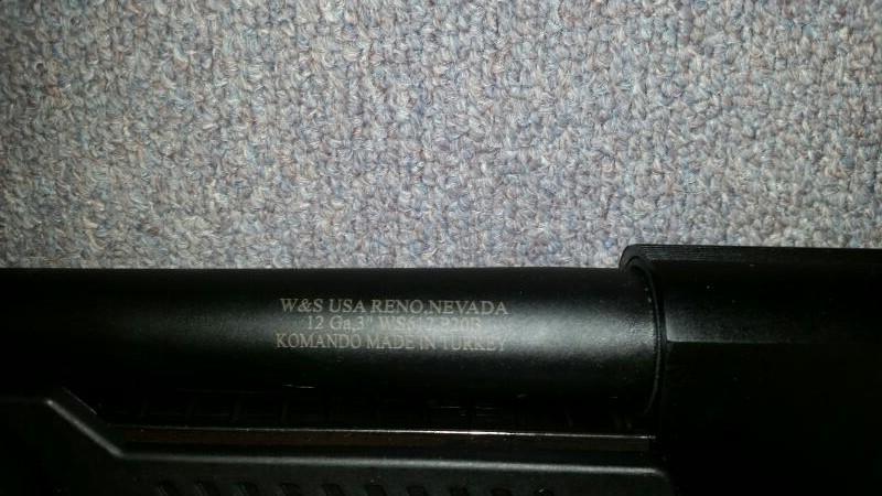 WEBLEY & SCOTT WS612P20B 12 GAUGE PUMP SHOTGUN