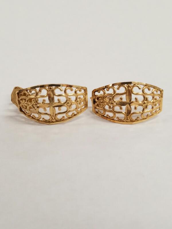 Gold Earrings 10K Yellow Gold 1.2g