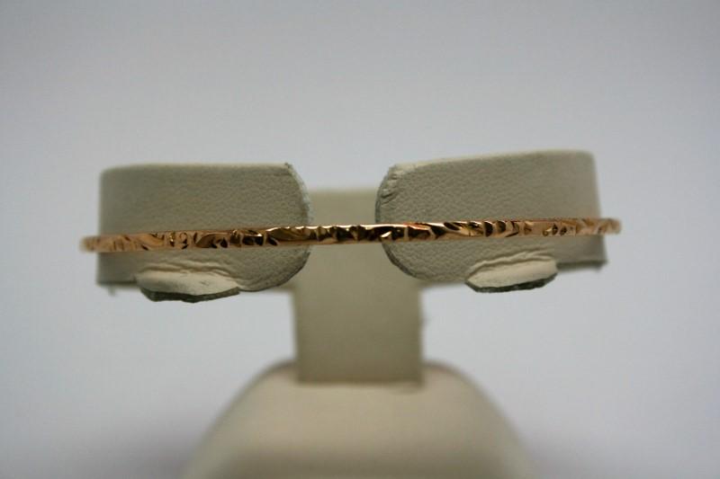BANGLE FANCY DESIGN 18K YELLOW GOLD