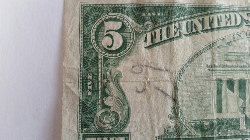 UNITED STATES Paper Money - World 5.00 SERIES 1963 UNITED STATES NOTE