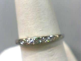 Lady's Gold-Diamond Anniversary Ring 8 Diamonds .14 Carat T.W. 14K Yellow Gold