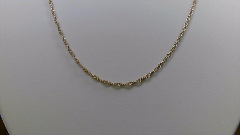 """18"""" Gold Rope Chain 14K Yellow Gold 2.1g"""