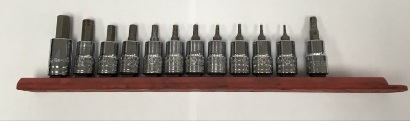 """GEARWRENCH TOOLS 12 PIECE 3/8"""" DRIVE HEX SOCKET SET"""