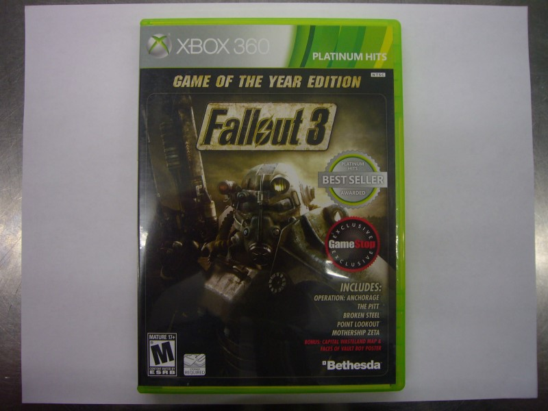 MICROSOFT XBOX 360 Game FALLOUT 3 GAME OF THE YEAR