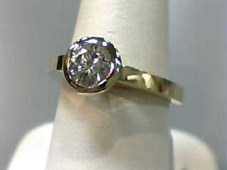 Lady's Diamond Engagement Ring .78 CT. 14K 2 Tone Gold 3.8dwt Size:6.3