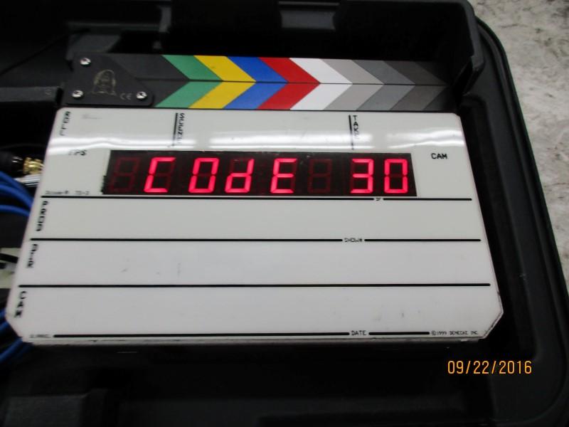 DENECKE TS-3 DCODE DIGITAL TIME CODE SLATE - GOOD CONDITION