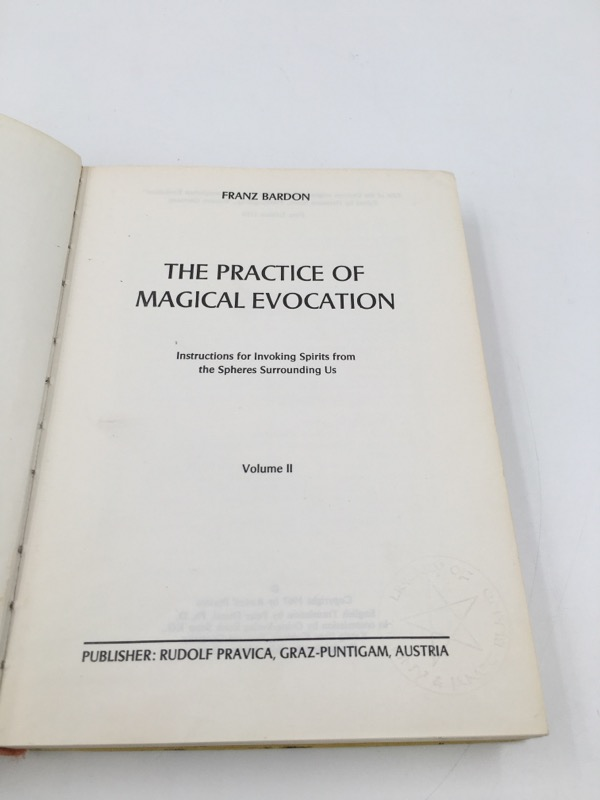 THE PRACTICE OF MAGICAL EVOCATION BY FRANZ BARDON