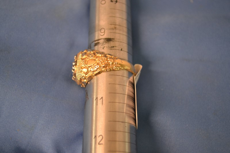 Gent's Diamond Cluster Ring 7 Diamonds .70 Carat T.W. 10K Yellow Gold 7.2g