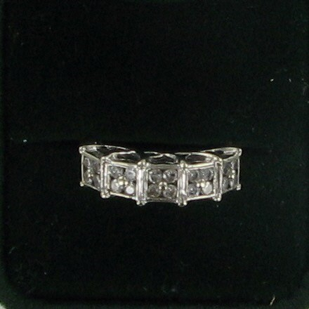 Lady's Diamond Fashion Ring 20 Diamonds .60 Carat T.W. 10K Yellow Gold 3dwt