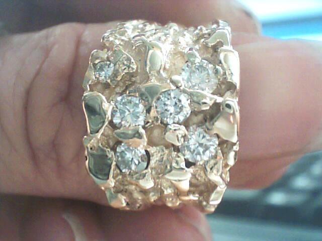 Lady's Diamond Fashion Ring 6 Diamonds .89 Carat T.W. 14K Yellow Gold 5.7dwt
