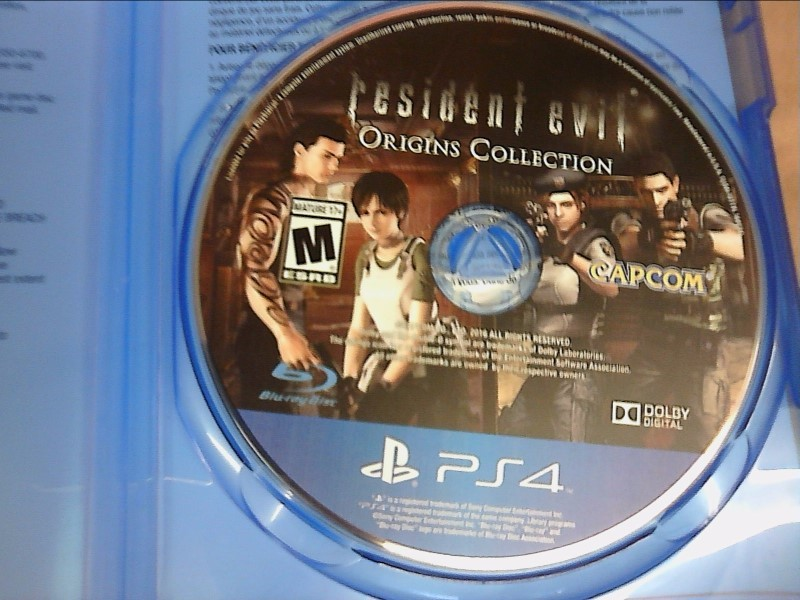SONY PlayStation 4 Game RESIDENT EVIL ORIGINS COLLECTION
