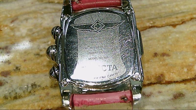 Invicta Women's Lupah Diamond Chronograph Watch Genuine Crocodile Leather Pink