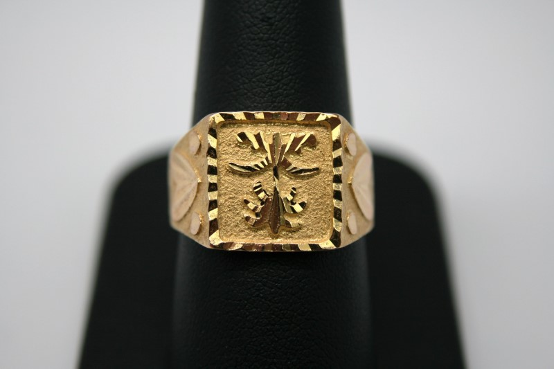 GENT'S FASHION STYLE RING 24K YELLOW GOLD