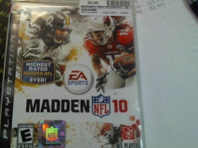 SONY PS3 MADDEN NFL 10