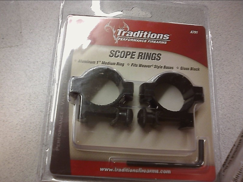 "TRADITIONS PERFORMANCE FIREARMS Accessories 1"" A791 SCOPE RINGS"