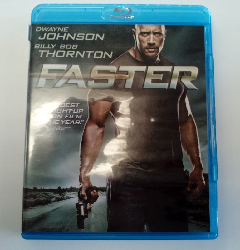 FASTER, ACTION BLU-RAY MOVIE, STARRING DWAYNE JOHNSON