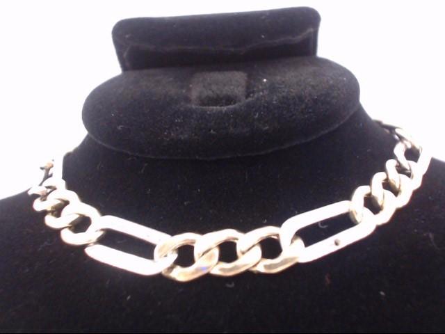 Gold Link Bracelet 14K 2 Tone Gold 6.9g