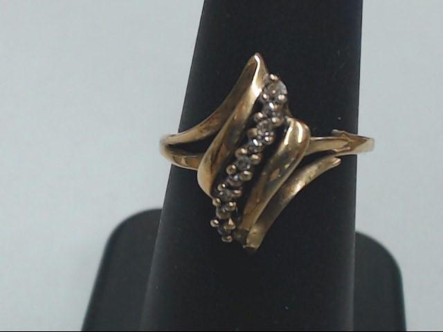 Lady's Diamond Cluster Ring 5 Diamonds .05 Carat T.W. 10K Yellow Gold 2.3g