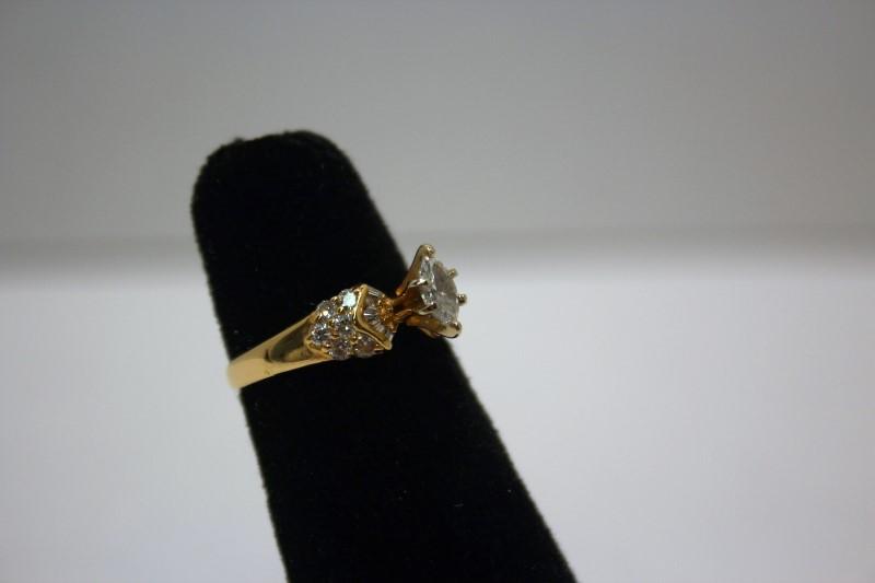 Lady's Diamond Fashion Ring 23 Diamonds .72 Carat T.W. 14K Yellow Gold 2.9g