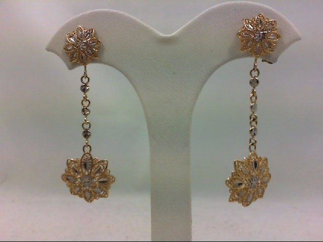Gold Earrings 14K Yellow Gold 3g