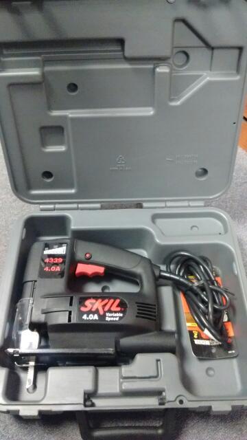 SKIL JIG SAW 4339 W/ ORIGINAL CASE GOOD CONDITION, BLACK, CORDED, 4.0