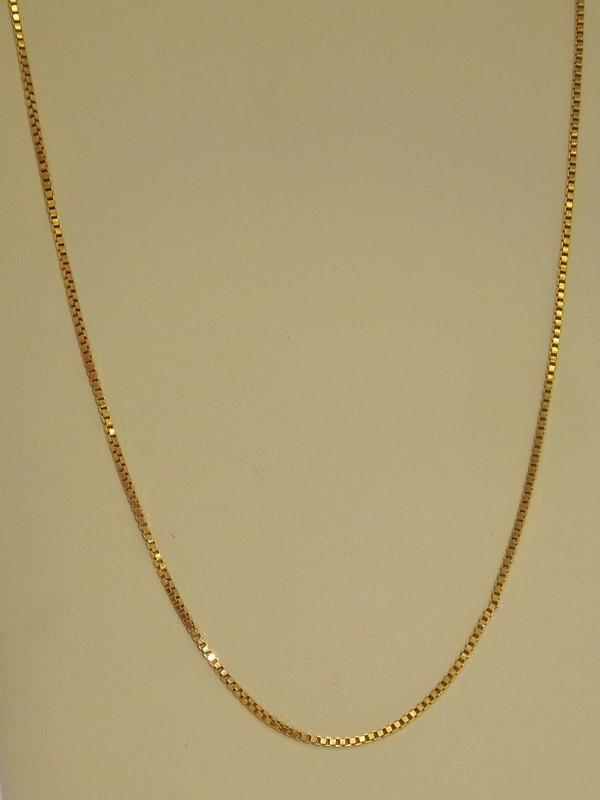"22"" Gold Box Chain 18K Yellow Gold 5.5g"