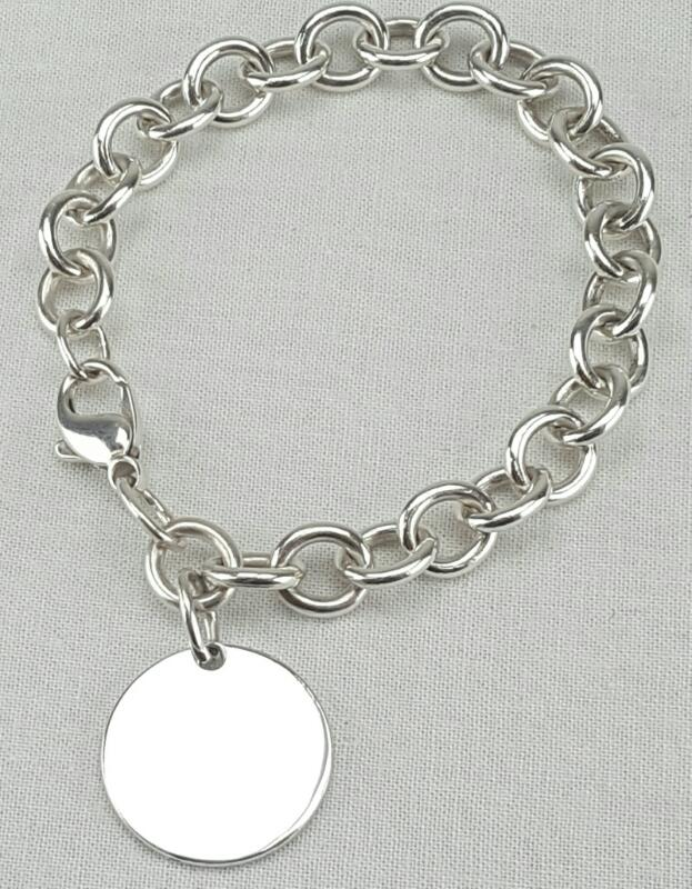 "Tiffany & Co. Please Return To Tiffany Tag Bracelet 925 8"""