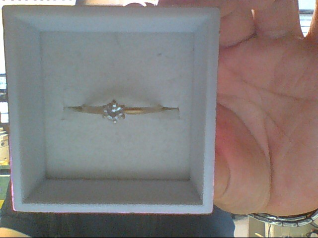 Lady's Diamond Solitaire Ring .18 CT. 14K Yellow Gold 1g