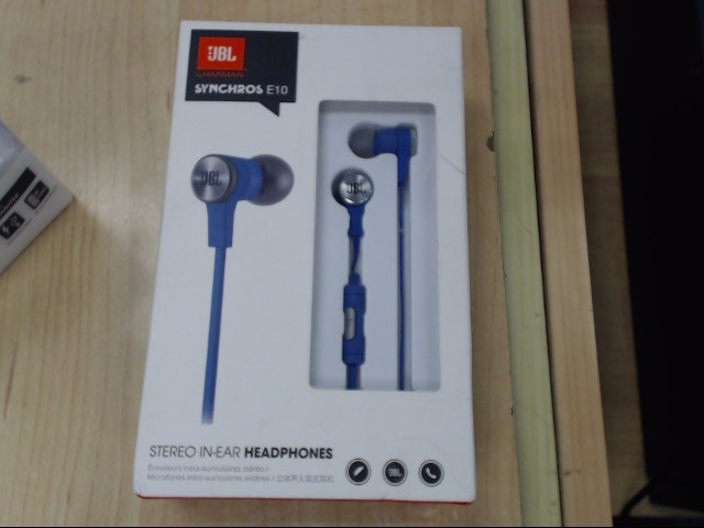 JBL Headphones SYNCHROS E10