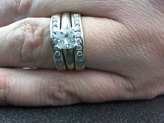 Lady's Diamond Wedding Set 23 Diamonds 1.13 Carat T.W. 14K White Gold 9.2g